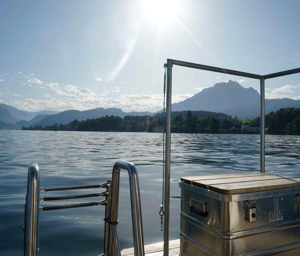 Saunaboot Snack - das Sauna Erlebnis inklusive Nachmittagssnack in Luzern mitten auf dem Vierwaldstättersee